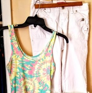 Tank and capri outfit